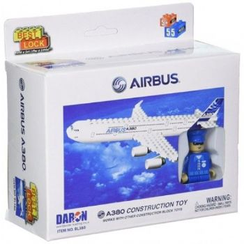 Airbus A380 Airliner Best Lock 55 Piece Block Construction Toy Set PPBL380 P